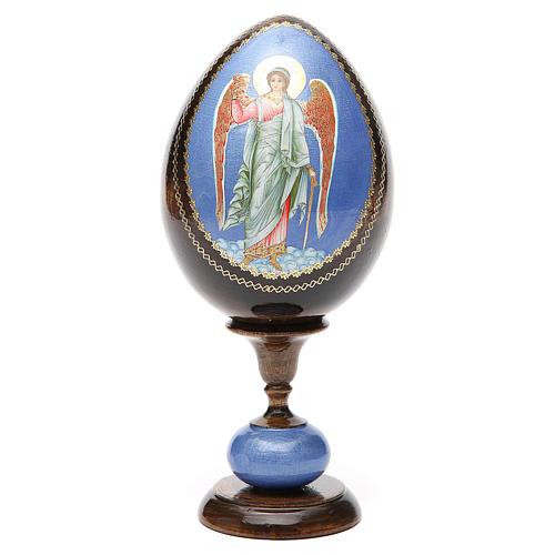 Huevo icono découpage Rusia Ángel de la guarda  tot h 20 cm 5