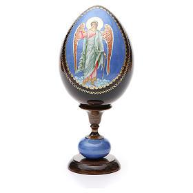 Russian Egg Guardian Angel découpage, Fabergè style 20cm s1