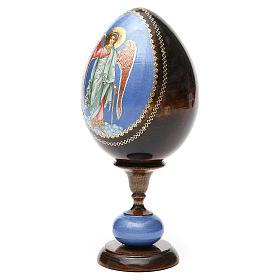 Russian Egg Guardian Angel découpage, Fabergè style 20cm s6