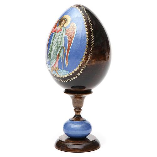 Russian Egg Guardian Angel découpage, Fabergè style 20cm 6