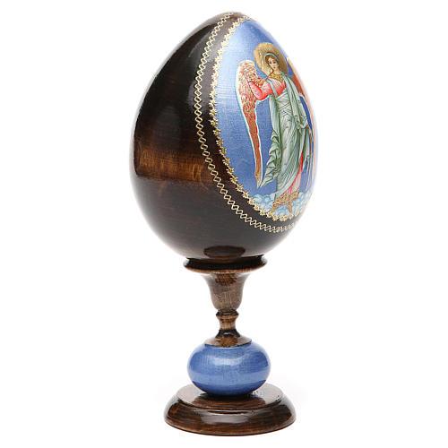 Russian Egg Guardian Angel découpage, Fabergè style 20cm 8