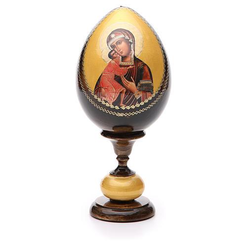 Uovo legno découpage Russia Feodorovskaya tot h 20 cm 1