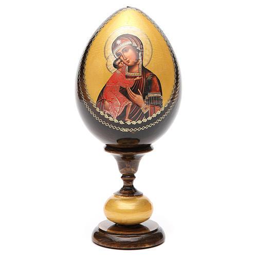 Uovo legno découpage Russia Feodorovskaya tot h 20 cm 5