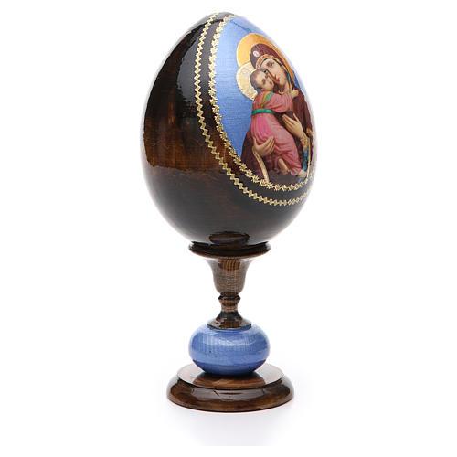 Huevo ruso de madera découpage Vladimirskaya altura total 20 cm estilo Fabergé 4