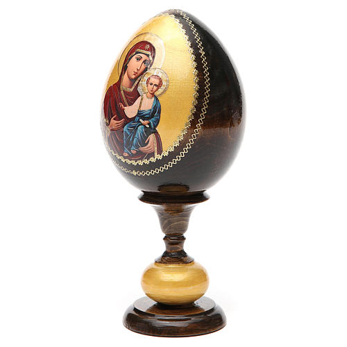 Uovo legno découpage Russia Smolenskaya tot h 20 cm 6