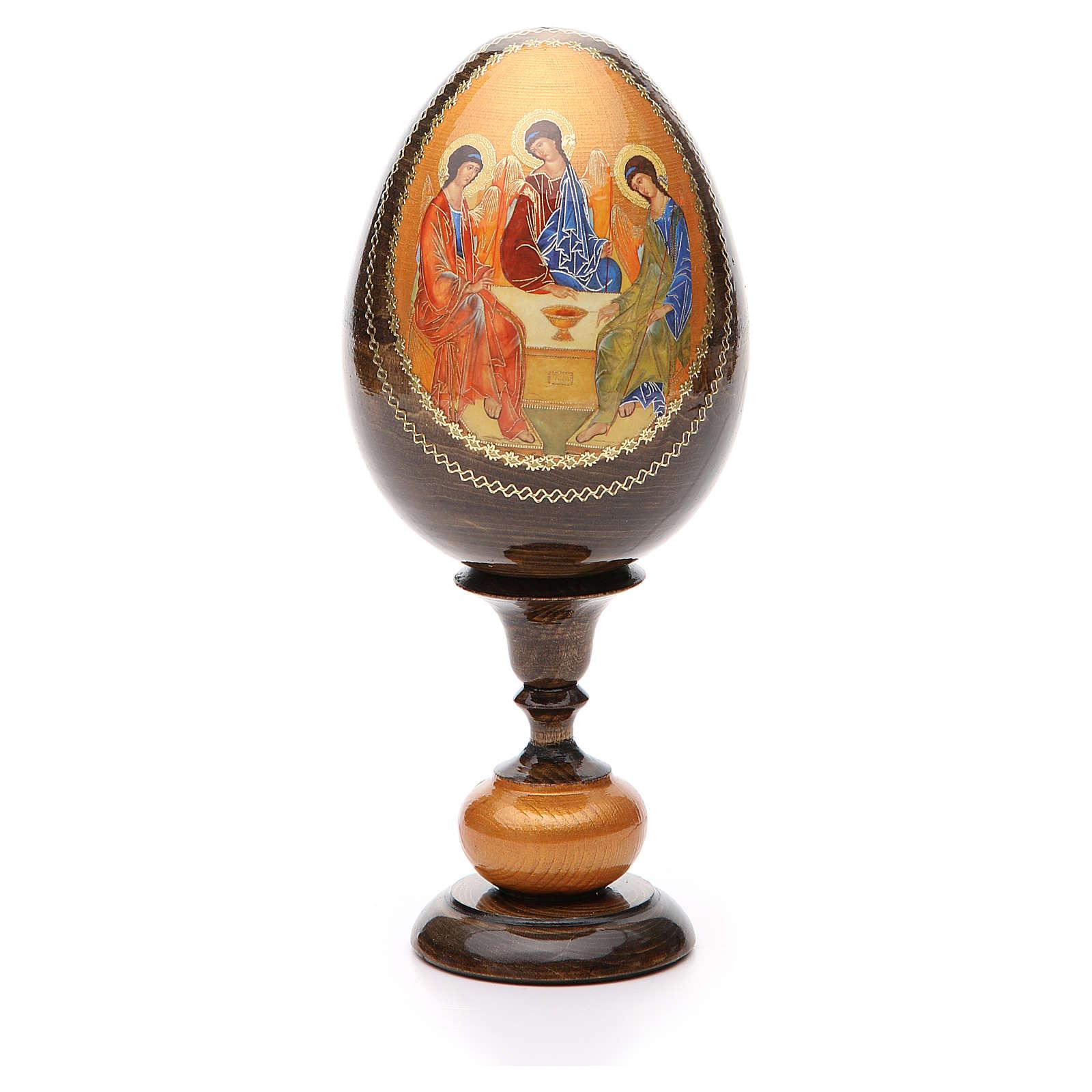 Uovo icona découpage Trinità Rublev tot h 20 cm 4