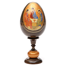 Uovo icona découpage Trinità Rublev tot h 20 cm s5