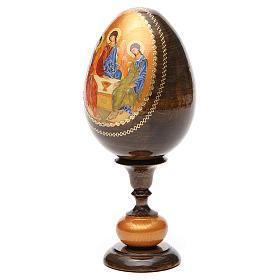 Uovo icona découpage Trinità Rublev tot h 20 cm s6