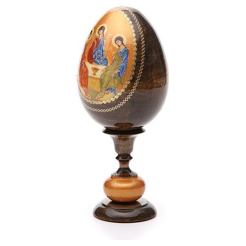 Uovo icona découpage Trinità Rublev tot h 20 cm 2