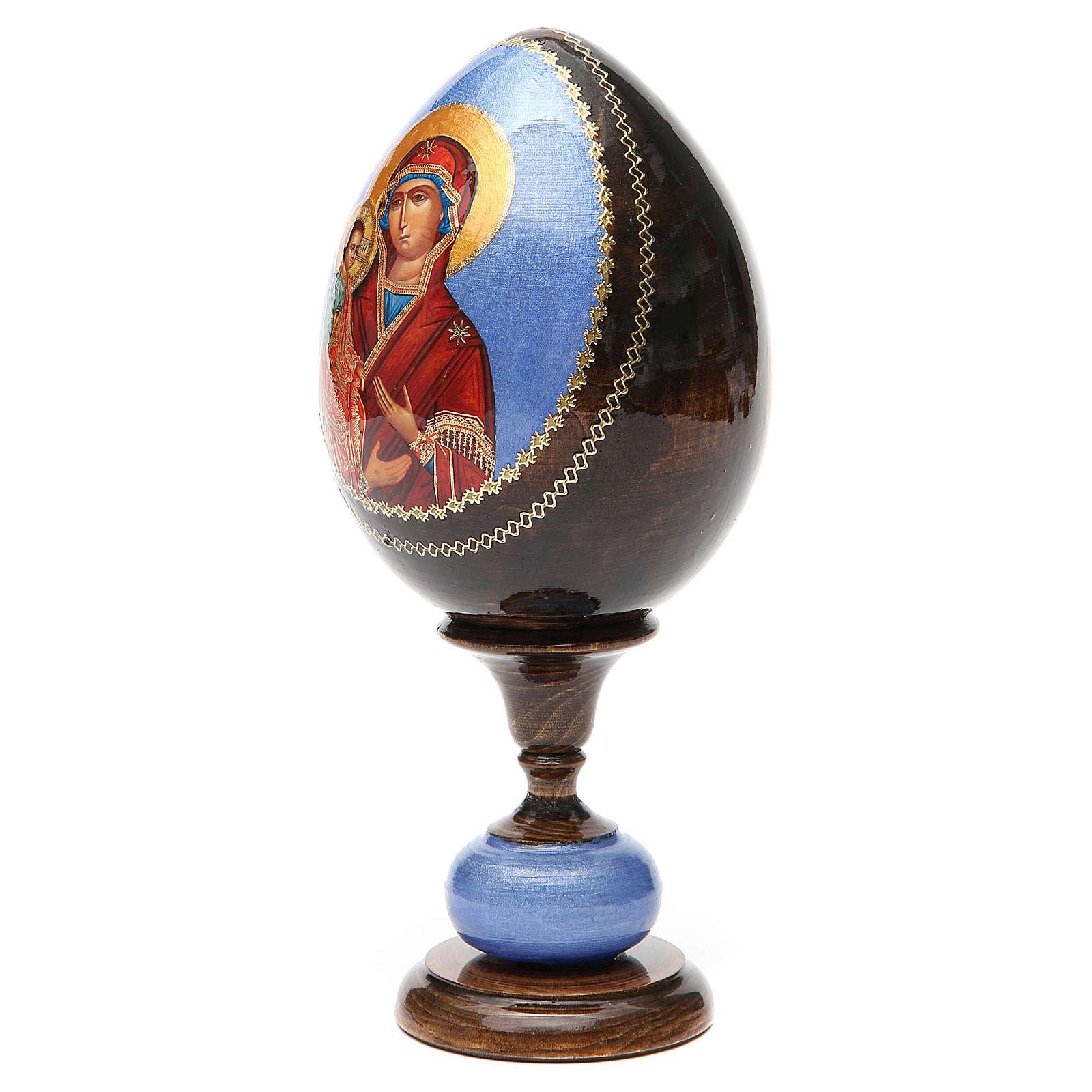 Huevo icono découpage tres manos tot h 20 cm 4