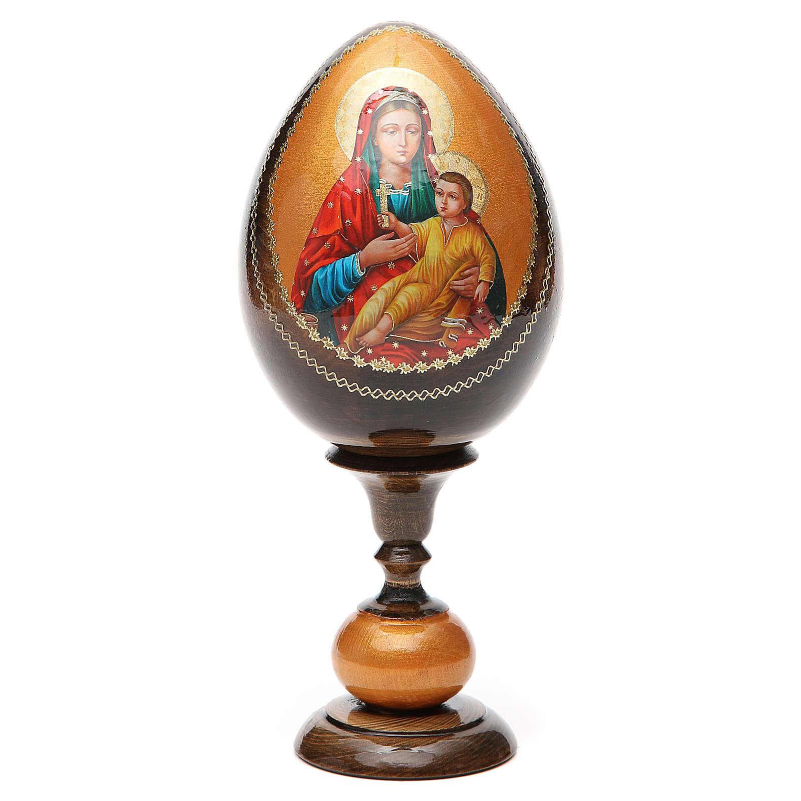 Uovo icona découpage Kozelshanskaya tot h 20 cm 4