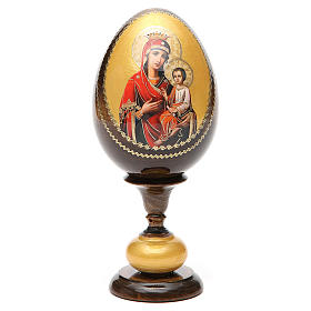 Huevo icono découpage Odigitria  Gorgoepikos tot h 20  cm s5