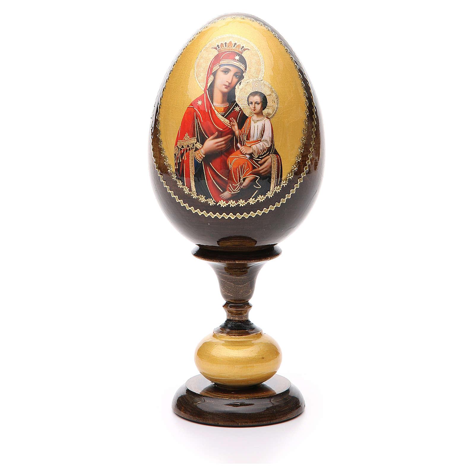 Oeuf icône découpage Hodighitria Gorgoepikos tot h 20 cm 4