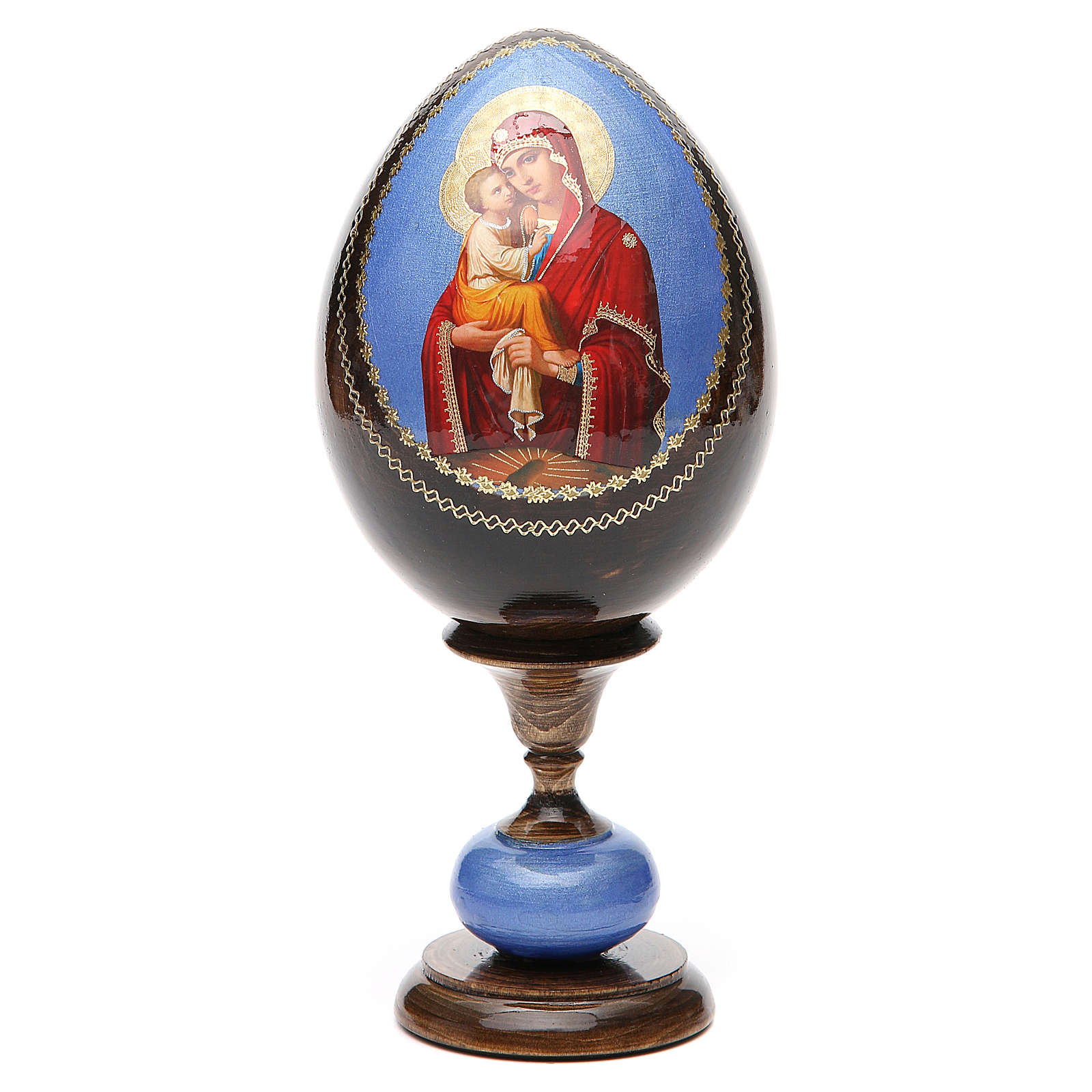 Huevo icono Découpage Pochaevskaya tot h 20 4