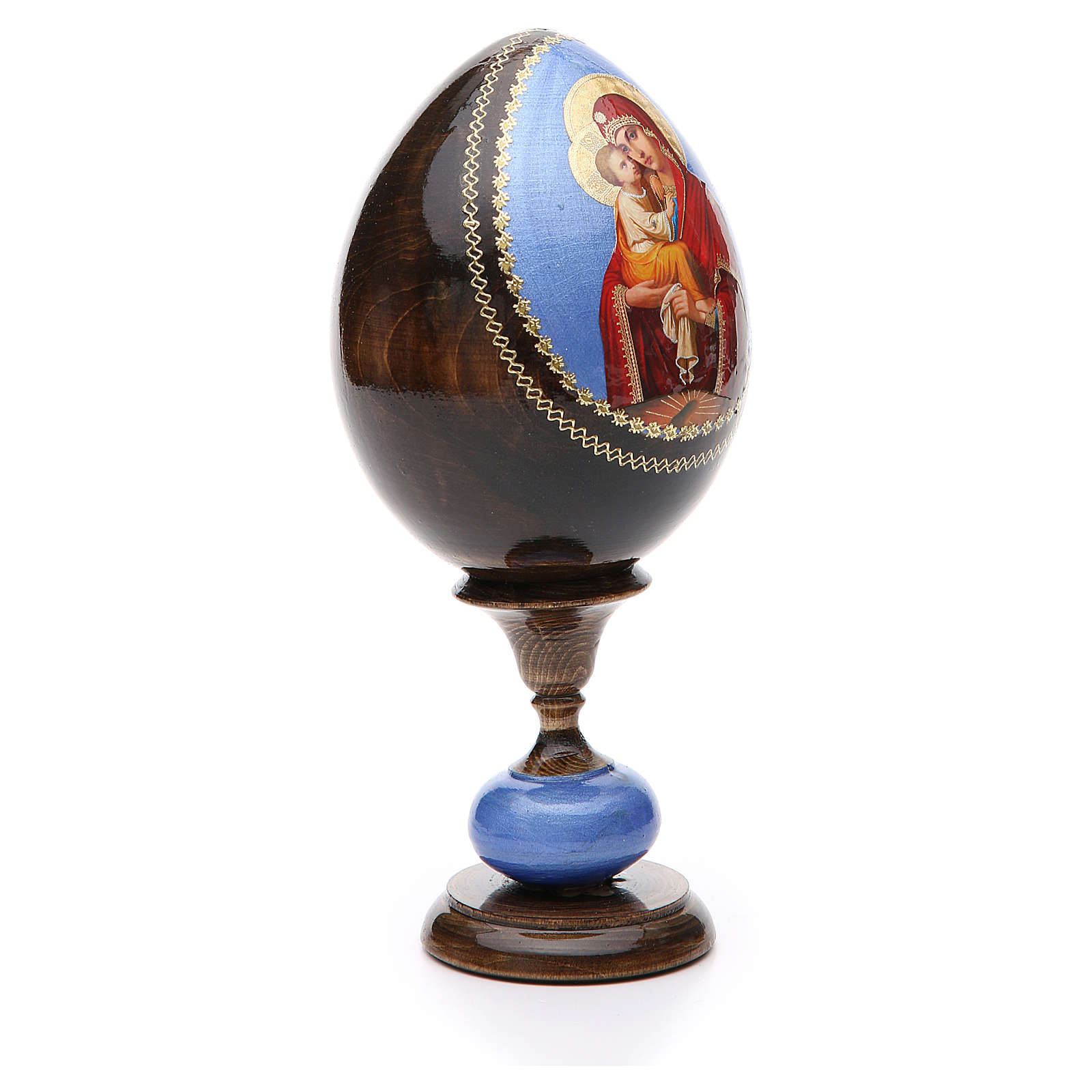 Uovo icona découpage Pochaevskaya tot h 20 cm 4