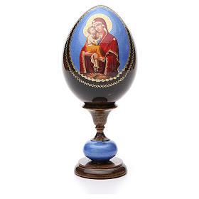 Uovo icona découpage Pochaevskaya tot h 20 cm s1