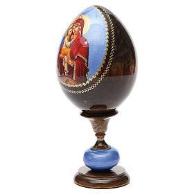 Uovo icona découpage Pochaevskaya tot h 20 cm s6