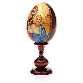 Huevo ruso de madera PINTADO A MANO Kazanskaya altura total 20 cm s2