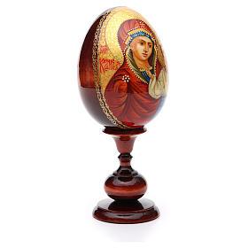 Huevo ruso de madera PINTADO A MANO Kazanskaya altura total 20 cm s4