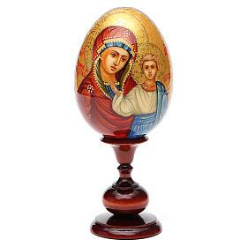 Huevo ruso de madera PINTADO A MANO Kazanskaya altura total 20 cm s5