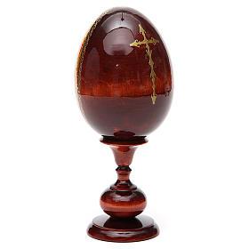 Huevo ruso de madera PINTADO A MANO Kazanskaya altura total 20 cm s7