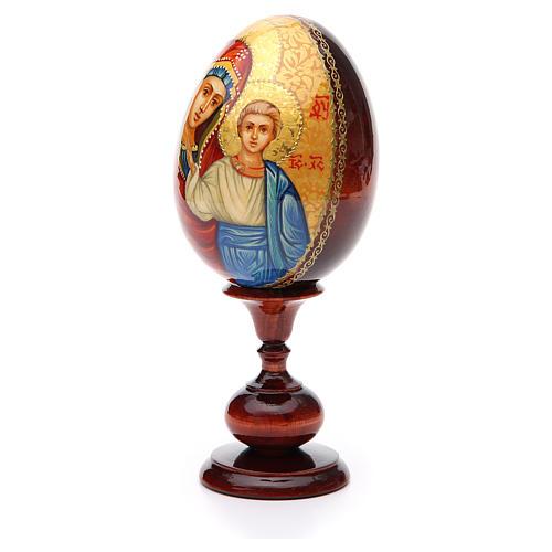 Huevo ruso de madera PINTADO A MANO Kazanskaya altura total 20 cm 2