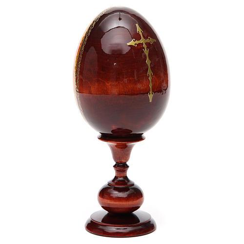Huevo ruso de madera PINTADO A MANO Kazanskaya altura total 20 cm 7