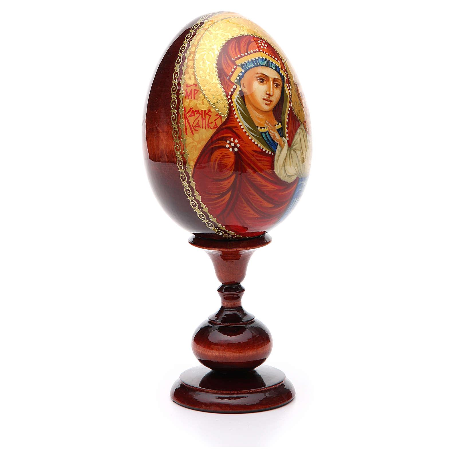 Oeuf icône russe PEINTE À LA MAIN Kazanskaya tot h 20 cm 4