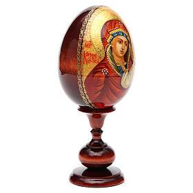 Oeuf icône russe PEINTE À LA MAIN Kazanskaya tot h 20 cm s8