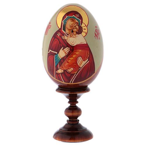 Uovo icona Russa DIPINTA A MANO Vladimirskaya tot h 20 cm 1