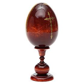 Huevo ruso de madera PINTADO A MANO Sagrada Familia altura total 20 cm s7