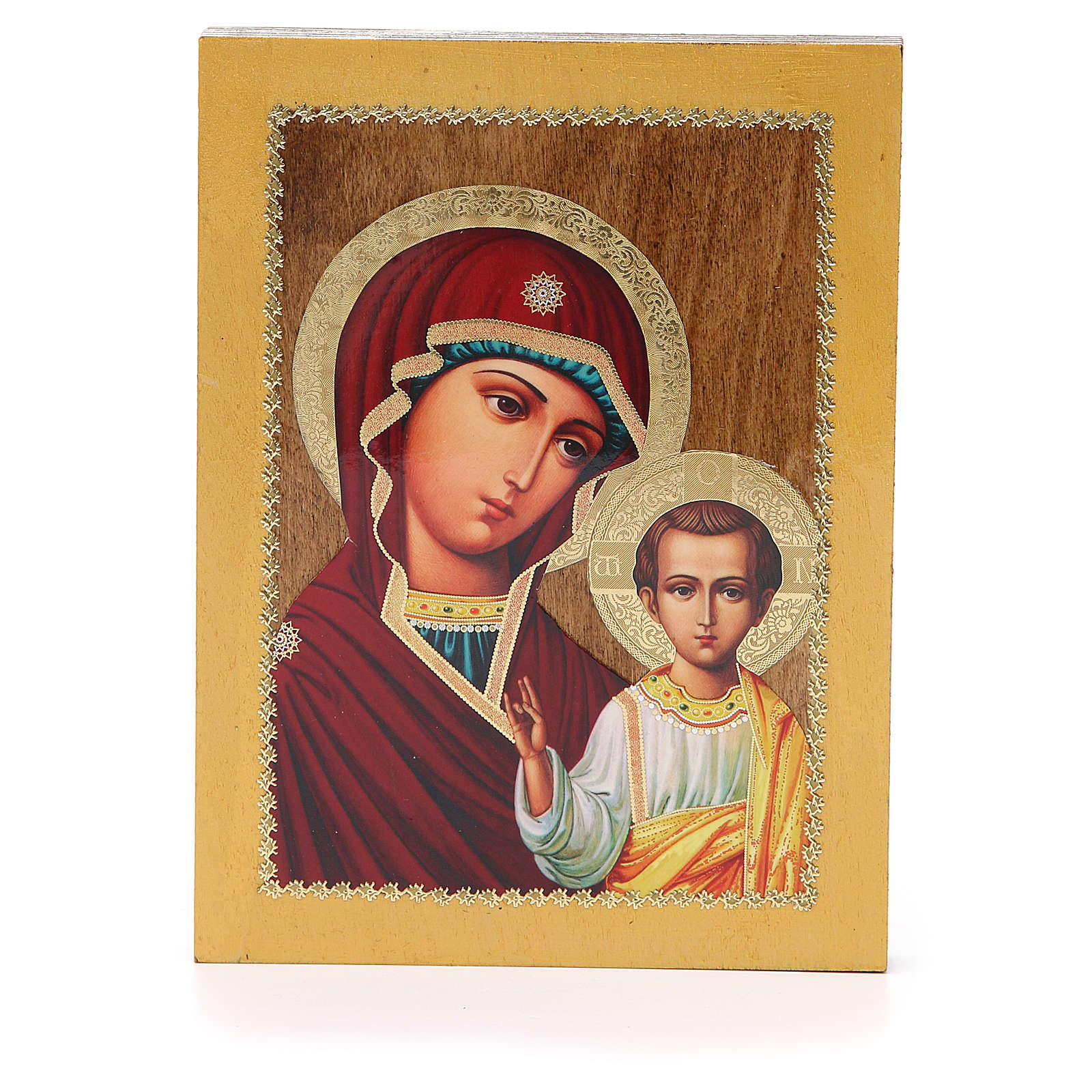 Russian icon Virgin of Kazan 20x15 cm 4