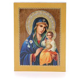 Icono Ruso Lirio Blanco 20x15 cm s1