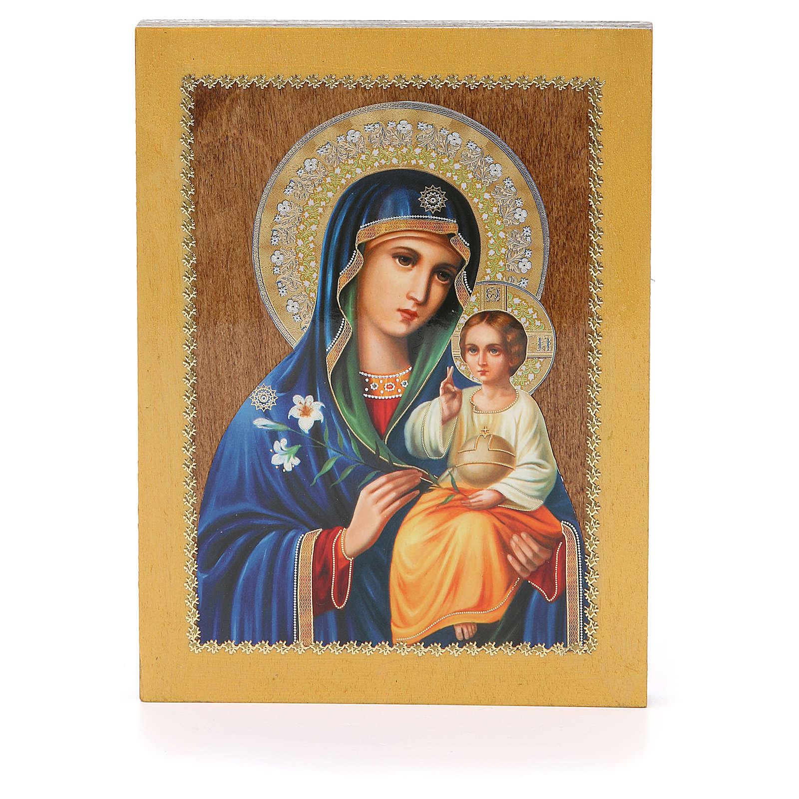 Icona Russa Giglio Bianco 20x15 cm 4