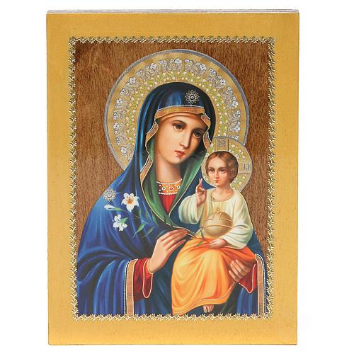 Icona Russa Giglio Bianco 20x15 cm 3