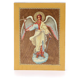Icônes imprimées sur bois et pierre: Icône russe Ange Gardien 20x15 cm