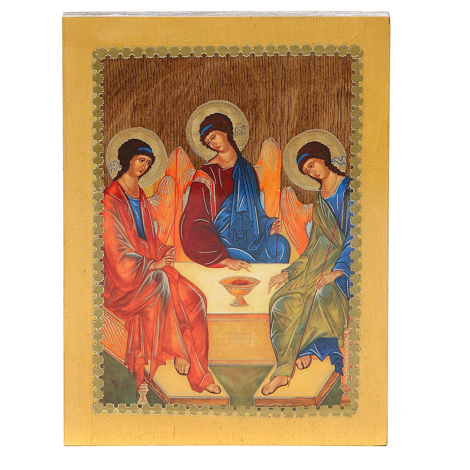 Russian icon Trinity of Rublev 20x15 cm 4