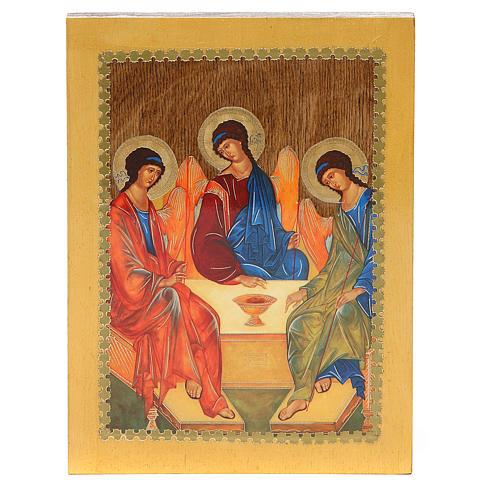 Russian icon Trinity of Rublev 20x15 cm 3