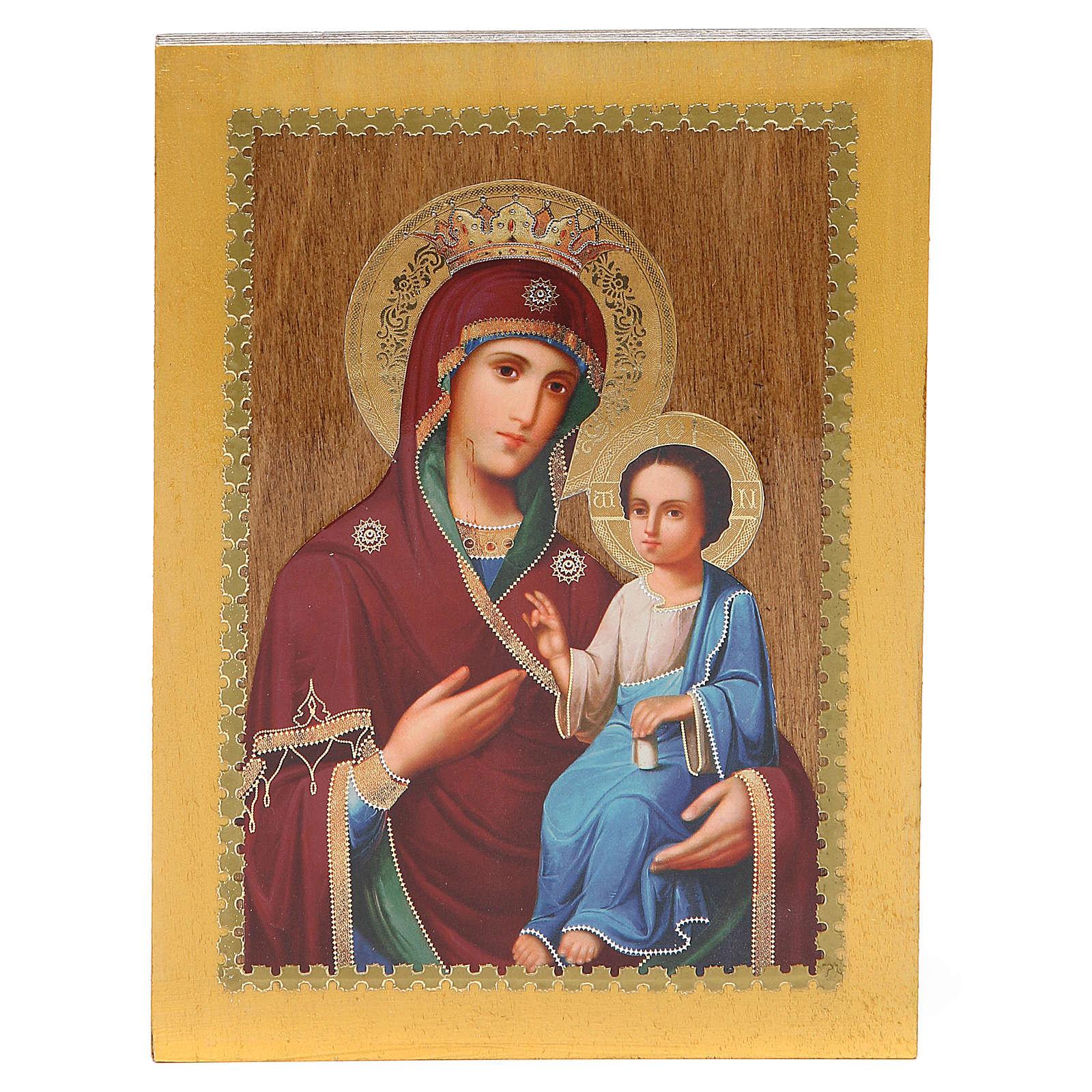 Russian icon Iverskaya 20x15 cm 4