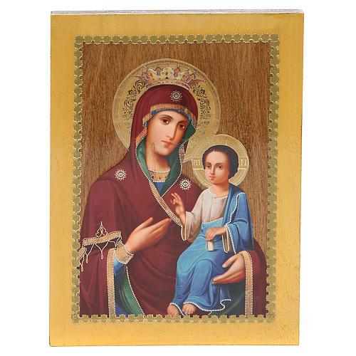 Russian icon Iverskaya 20x15 cm 3