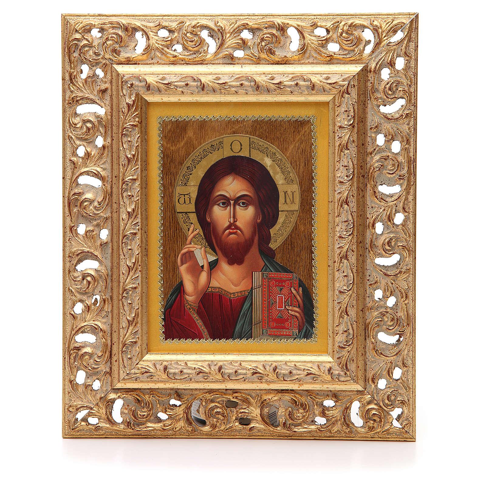Icona russa serigrafata cornice Pantocratore 4