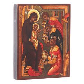 Icona russa Adorazione tre Magi 14x10 cm s2