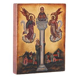 Icône russe Saint Jean sur la colonne 14x10 cm s2