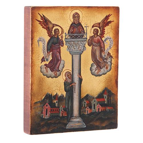 Icône russe Saint Jean sur la colonne 14x10 cm 2