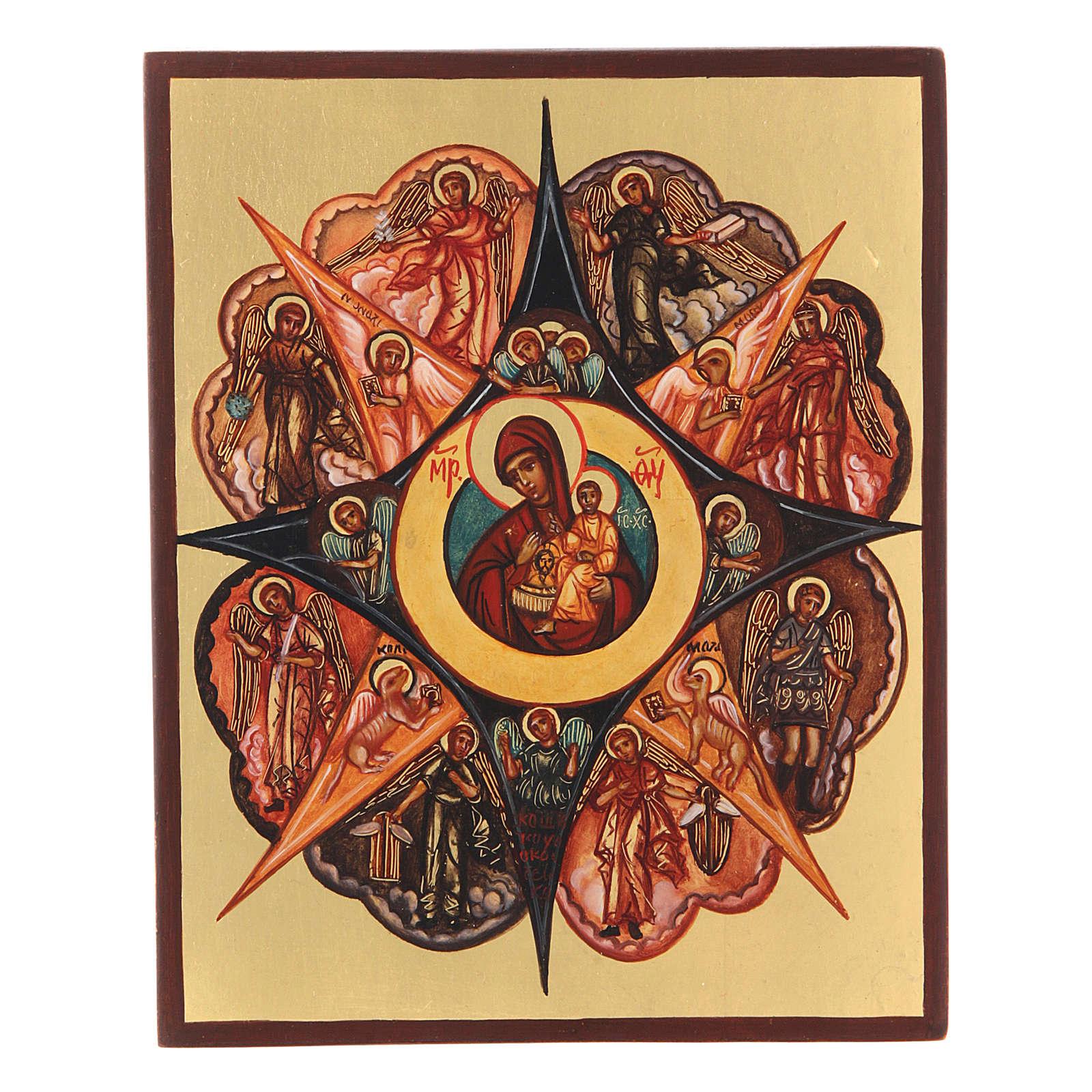 Icona russa Roveto Ardente 14x10 cm 4