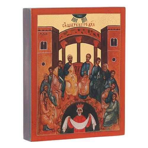 Icona russa Pentecoste 14x10 cm 2