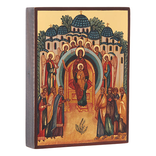 Russian icon The Creation Rejoices in You 14x10 cm 2