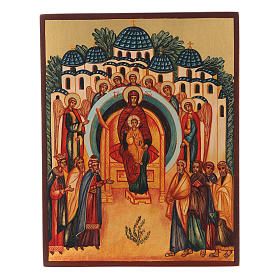 Russian icon The Creation Rejoices in You 14x10 cm s1