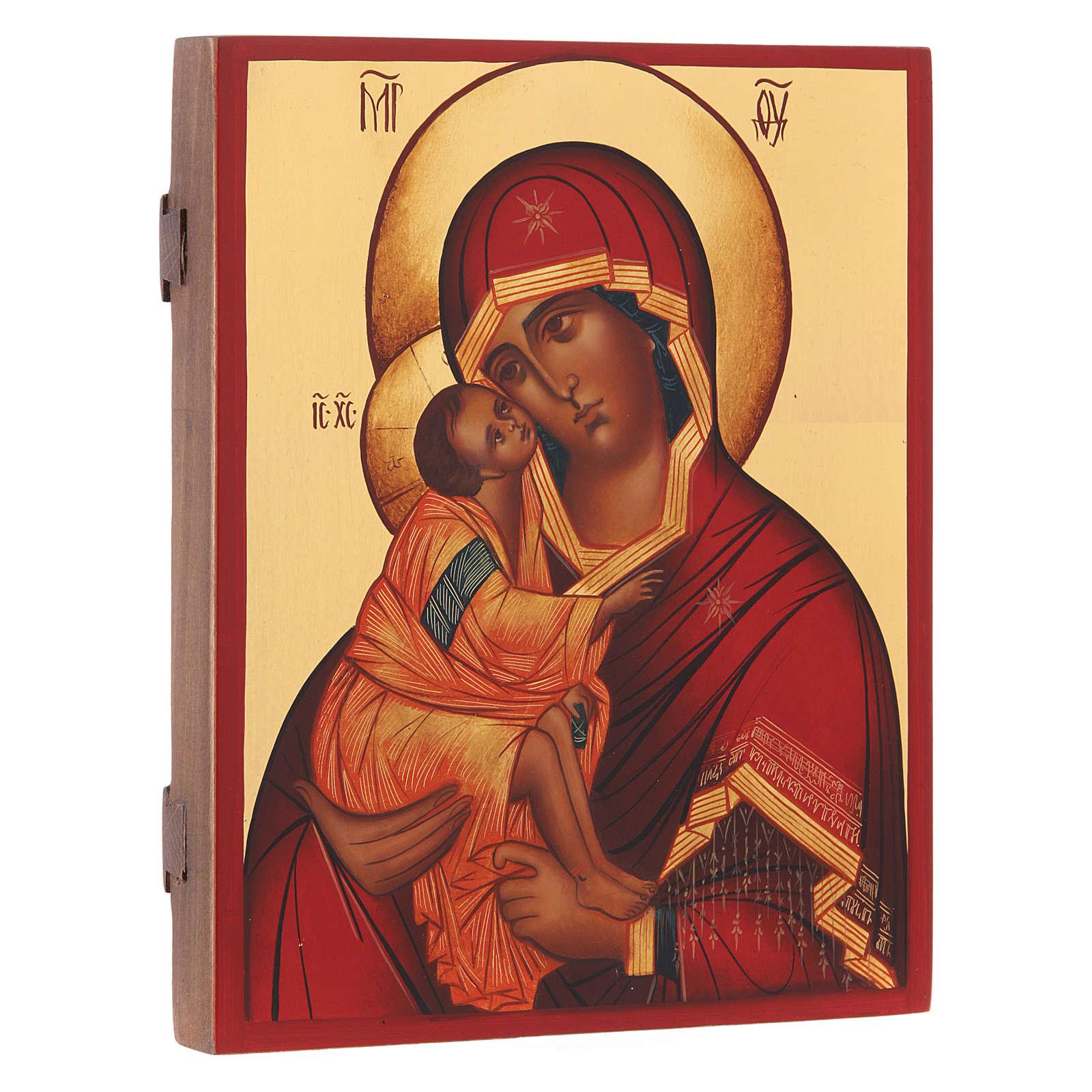 Icona russa Madonna di Don 21X16 cm 4