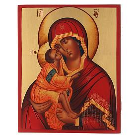 Icona russa Madonna di Don 21X16 cm s1
